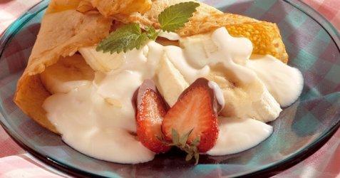 Bilde av Pannekaker med yoghurtgodt.