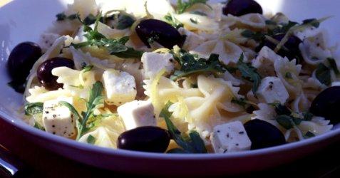 Pasta fra Middelhavet oppskrift.