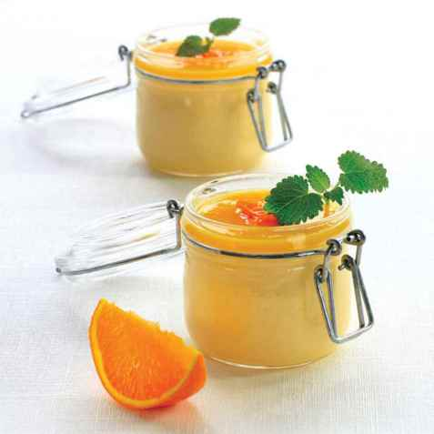 Appelsinfromasj med sukrin oppskrift.