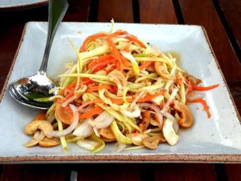 Thai mango salat oppskrift.