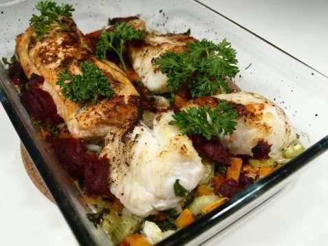 Prøv også Bakt lange med grønnsaker.