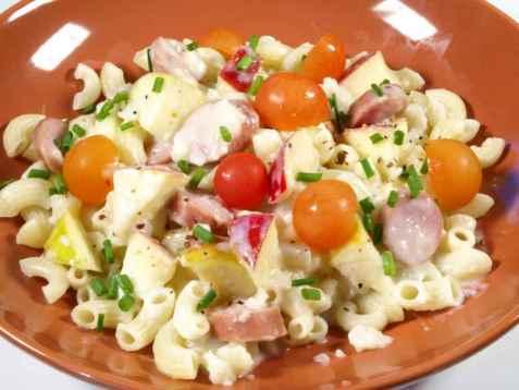 Bilde av Pasta med blomk�l og skinke.
