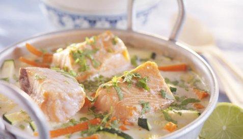 Asiatisk fiskegryte oppskrift.
