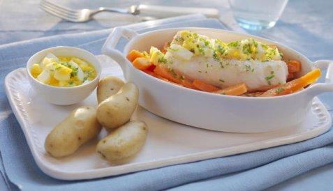 Eggende torsk oppskrift.