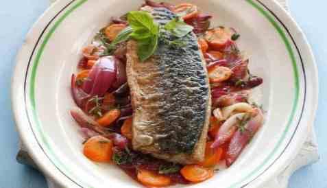 Bilde av Makrellescabeche - stekt, marinert makrell.