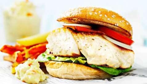 Bilde av Burger med torsk Troms� Supreme.