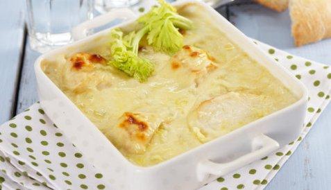 Bilde av R�ykt bl�kveite med selleri- og ostesaus.