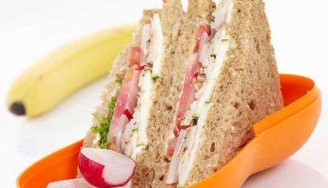 Sandwich med makrell og reddik oppskrift.