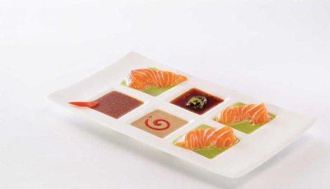 Sashimi med to sauser oppskrift.