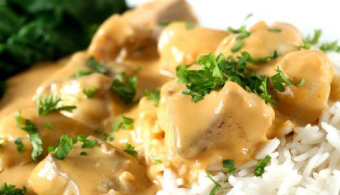 Steinbit med ris og soppsaus oppskrift.
