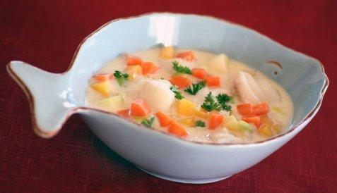 Fiskegryte med høstens grønnsaker oppskrift.