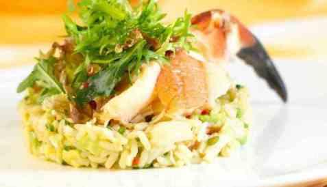 Krabbe med ris oppskrift.