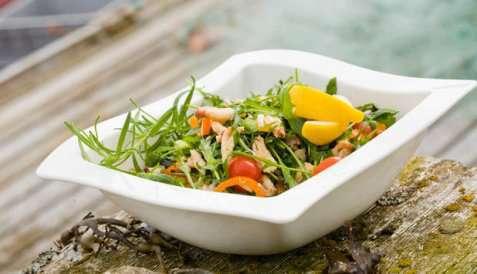 Salat med krabbe oppskrift.