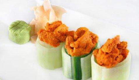 Bilde av Sushi med kr�kebolle.
