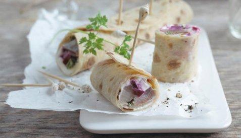 Bilde av Lompe med matjessild.
