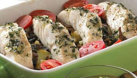 Ovnsbakt sei med grønn saus oppskrift.