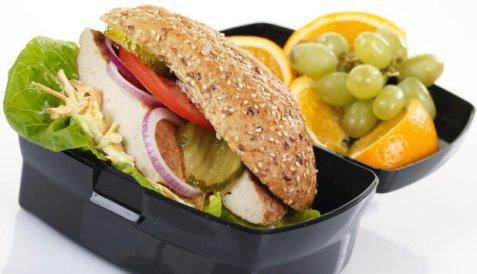 Bilde av Fiskeburger til matboksen.