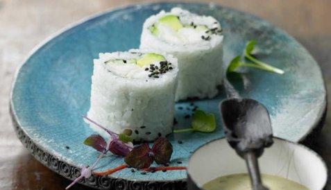 Maki sushi med torsk oppskrift.