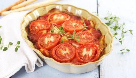Lettsaltet torsk i tomatform oppskrift.