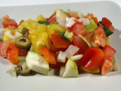 Grønnsaksmiks til grillmat oppskrift.