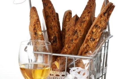 Bilde av Biscotti med mandler og sjokolade.
