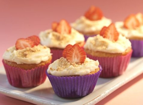 Cheesecake muffins oppskrift.