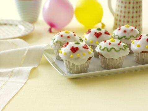 Bilde av Cupcakes med banan og sjokolade.