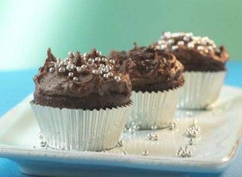 Sjokoladeelskerens cupcakes oppskrift.