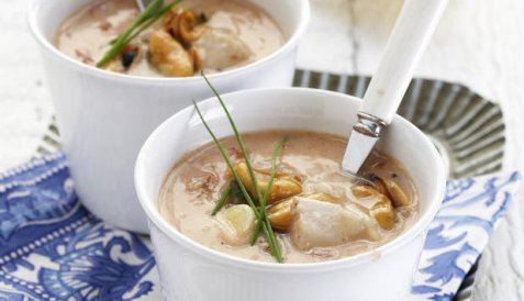 Bilde av Fiskesuppe med tomatsmak.