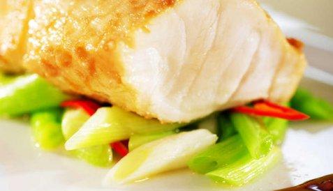 Bilde av Steinbit med soya og chili.
