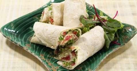 Wraps med ost og grønt oppskrift.