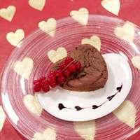 Flytende sjokoladehjerte med vaniljekesam oppskrift.