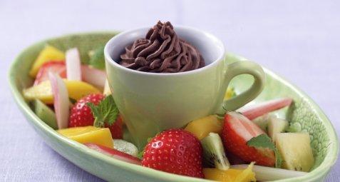 Sjokoladechantilly oppskrift.