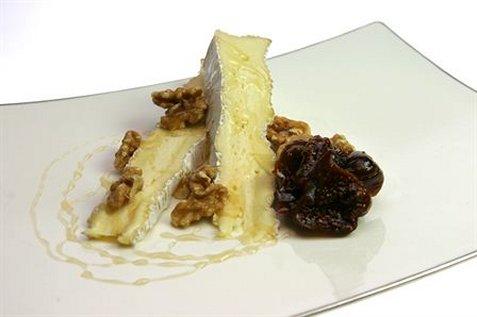 Desserttallerken med brie de Meaux oppskrift.