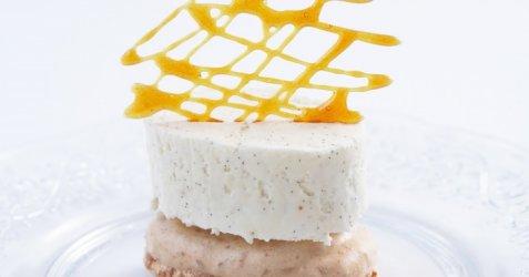 Limedrøm med vaniljemakroner oppskrift.