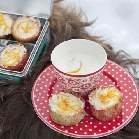 Gulrotmuffins med valnøtter oppskrift.