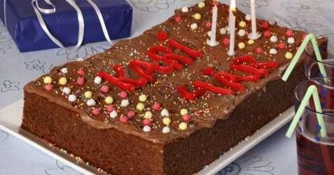 Sjokoladekake i langpanne 6 oppskrift.