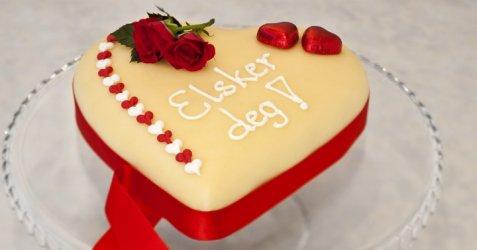 Valentine kake oppskrift.