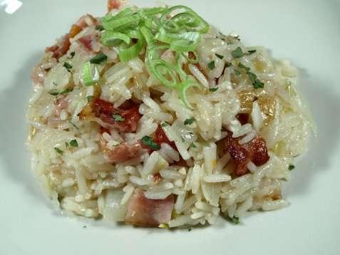 Bilde av Bacon risotto.