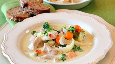 Kalkun med gorgonzola og pasta oppskrift.