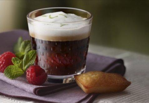 Hot-iced Raspberry Coffee oppskrift.