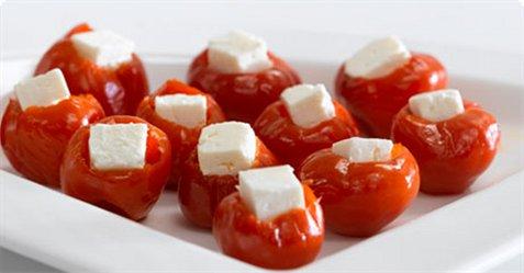 Bilde av Fylt paprika med apetina.