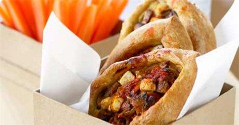 Bilde av Piroger med sopp og gulr�tter.