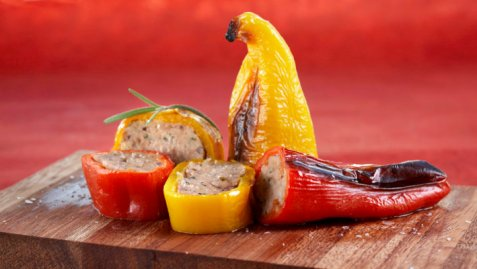 Bilde av Kjøttfylte søte paprika.