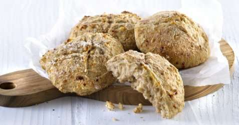 Bilde av Magre scones med cottage cheese.