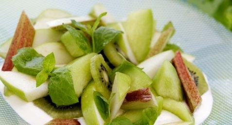 Grønn fruktsalat oppskrift.