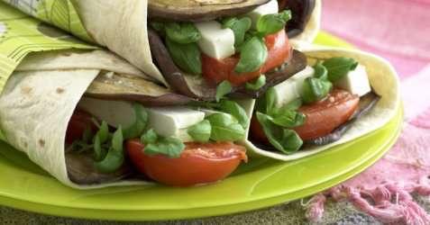 Grønnsakswraps med feta oppskrift.