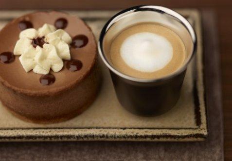 Bilde av Chocolate cheesecake & Espresso Macchiato.