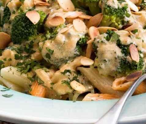 Bilde av Penne med bl�muggost og brokkoli.