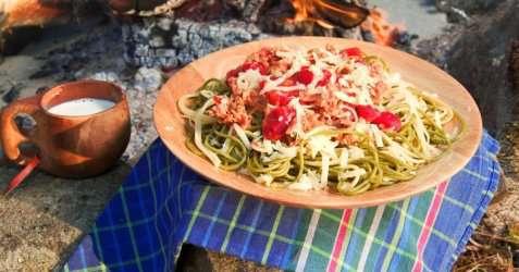 Bilde av Pasta bolognese p� tur.